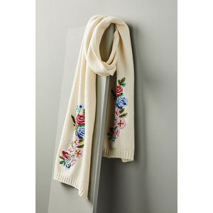 "NWT Anthropologie ""Bunched Buds Wool Scarf"""